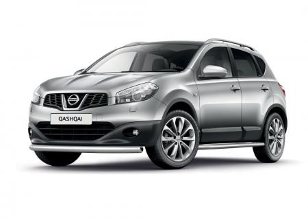 Защита переднего бампера одинарная d63мм Nissan Qashqai (нерж)